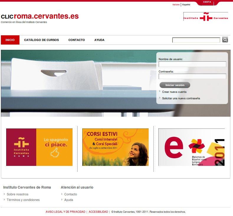 ENREDA desarrolla la tienda online del INSTITUTO CERVANTES
